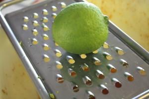 grating lime zest