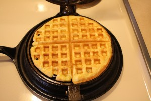 a perfectly done waffle