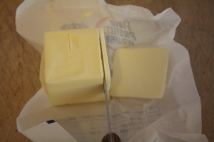 slicing butter