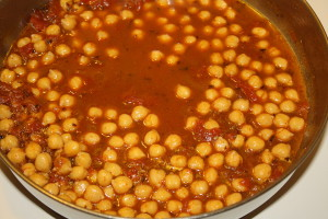 chickpeas simmering