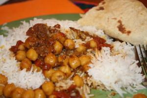 chana masala and rice