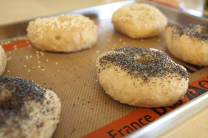 topping bagels