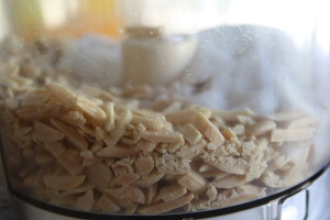 almonds in a food processor