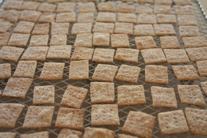 cooling thin wheat crackers