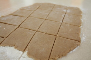 graham crackers being made