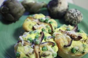 mushroom pea tartlets