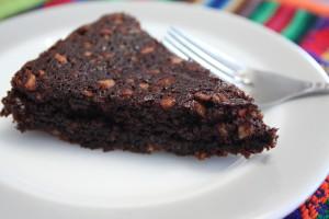 Slice of Chocolate Almond Torte