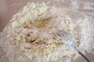 dry and crumbly pierogi dough