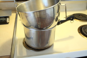 improvised double boiler