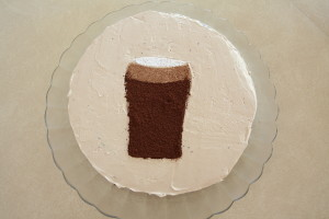 Guinness and Guinness shaped cake