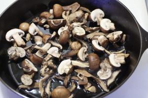 sauteing mushrooms
