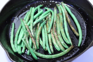 blackening green beans