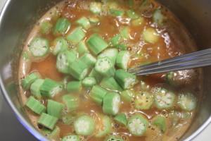 adding okra