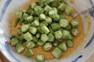 coating okra