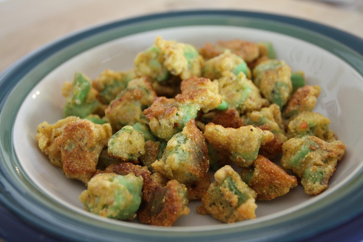 fresh fried okra
