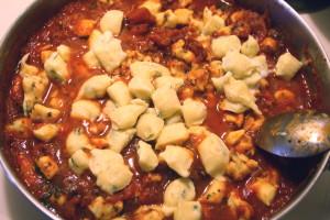 gnocchi in sauce
