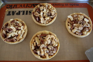 nuts in tart shells