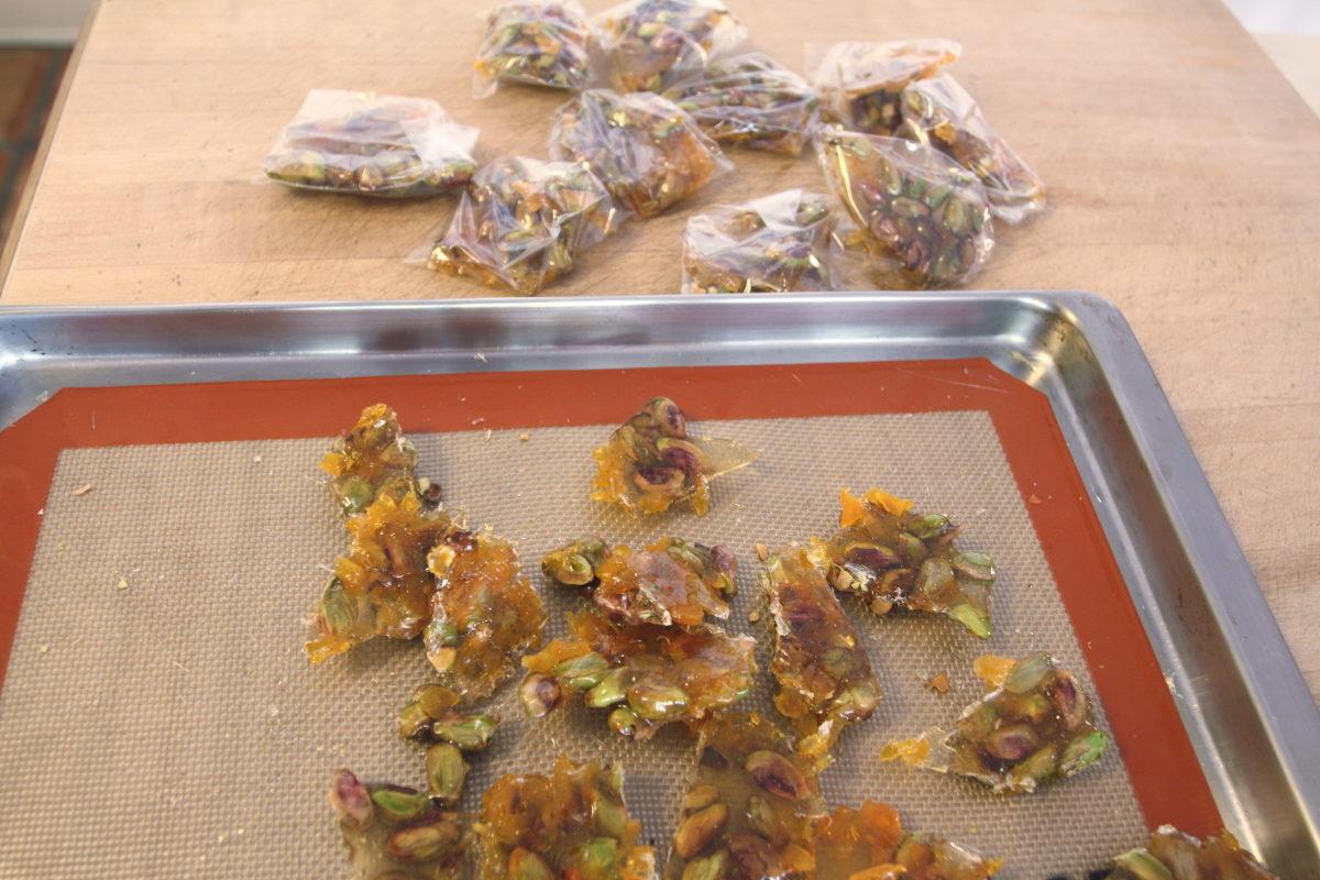 apricot-pistachio brittle