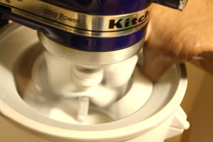 churning ice cream