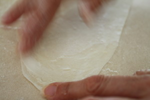 buttering phyllo