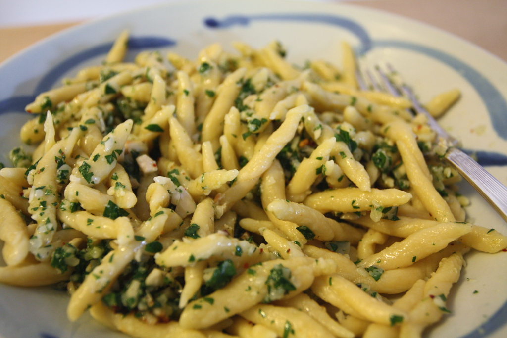 Trofie with Lime Cashew Pesto