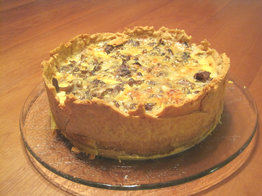 Over-the-Top Mushroom Quiche – Scratchin' It