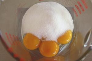 yolks and sugar