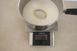 measuring sugar