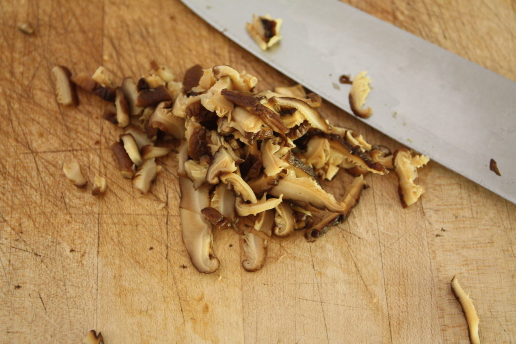 quick-picled shiitake mushrooms