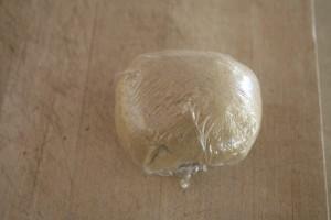 potsticker dough resting