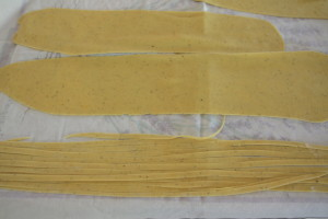 rolled and cut pasta