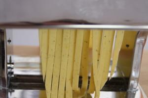 cutting pasta