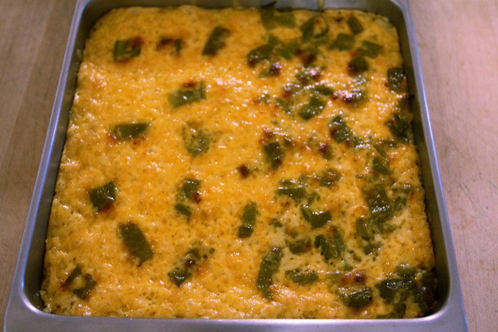 green chili polenta casserole