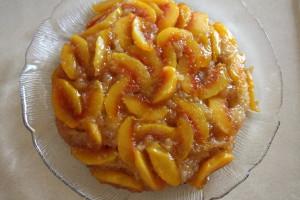 rustic almond peach cake