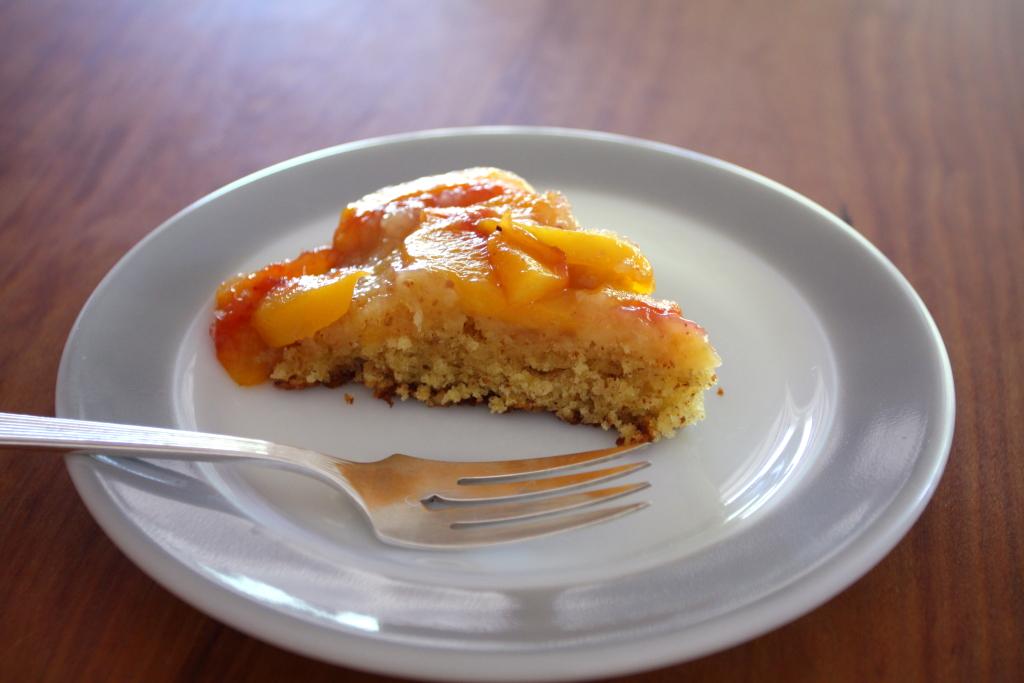 Rustic Almond-Peach Cake