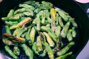 seasoning shishito peppers