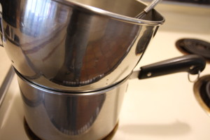 making a double boiler