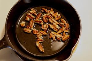 frying pecans