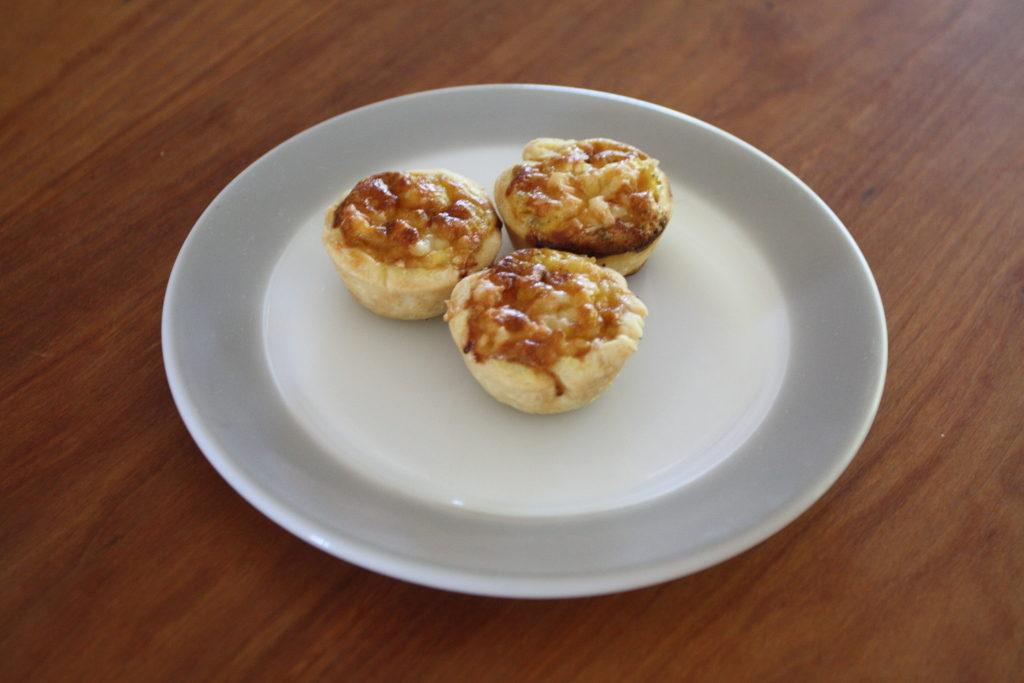 Alsace onion tartlets