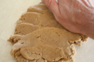 smearing dough