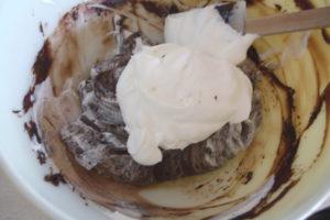 making chcolate cream