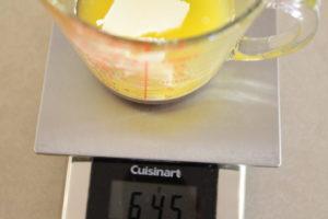 adding butter