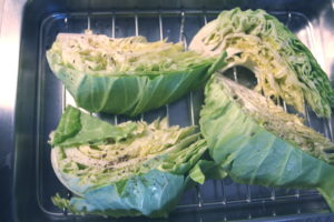 roasting cabbage