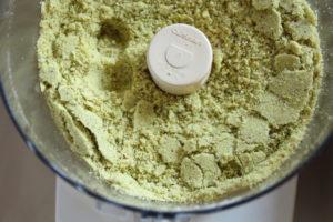 grinding pistachios