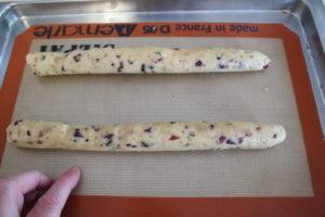 rolling biscotti dough