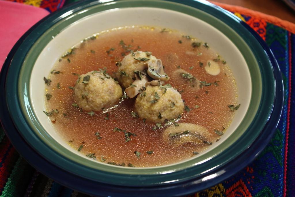 Gnudi in Brodo (Italian Dumplings in Broth)